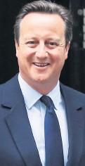 ??  ?? PM David Cameron yesterday
