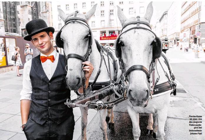 ??  ?? Florian Knam ist einer von den jüngeren Fiakerzugängern bei Unternehmer Johann Paul