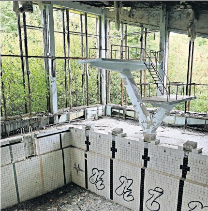 ??  ?? Going green: the town of Pripyat by Chernobyl was evacuated in 1986