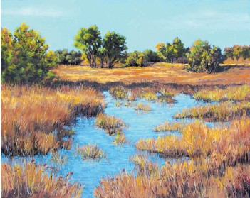 """??  ?? """"Sing to Me, Autumn"""" by Janice St. Marie is a beautifully rendered scene exuding mastery of the pastel medium."""