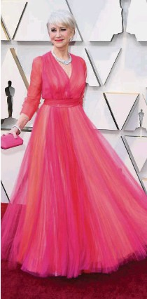 ??  ?? Helen Mirren arriving at the 91st Annual Academy Awards at the Dolby Theatre in Hollywood.