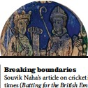 ??  ?? A 12th-century depiction of St Augustine (right). Imran Asim Hayat highlights his efforts in spreading Christianity