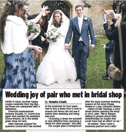 79e4dffe16a3 PressReader - Daily Express  2017-02-04 - Wedding joy of pair who ...