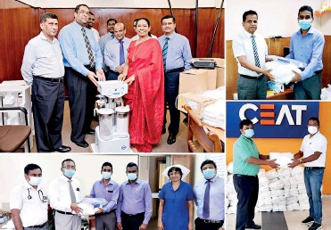 ??  ?? Some of the donations made by CEAT to State institutions involved in the battle against the spread of COVID-19