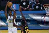 ?? TONY AVELAR — THE ASSOCIATED PRESS, FILE ?? The Warriors remain confident that center James Wiseman will find his rhythm during the final stretch of the regular season.