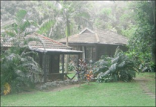 ??  ?? The chalets at Raybert Lodge nestle in a lush tropical garden where silence reigns