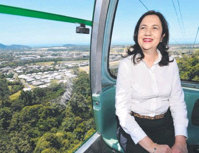 ??  ?? Annastacia Palaszczuk's Labor government has a big decision to make on whether it endorses a cableway in the hinterland, given its only Gold Coast MP is reliant on the green vote.