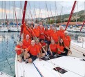 ??  ?? Learn new skills—and make new friends—on a Colgate Sailing Adventure.