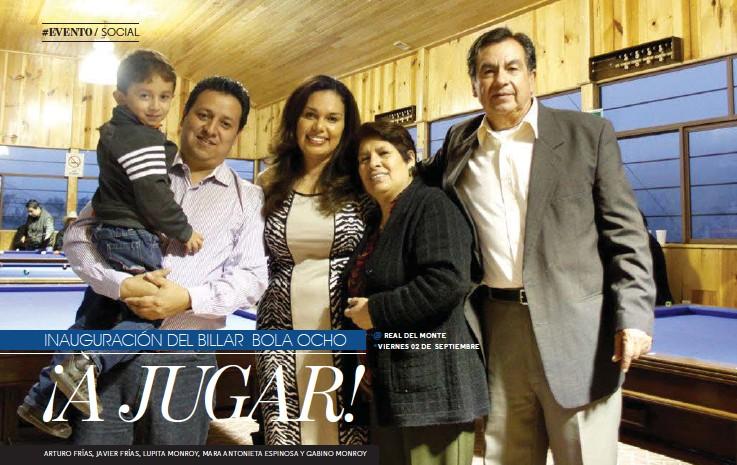 ??  ?? ARTURO FRÍAS, JAVIER FRÍAS, LUPITA MONROY, MARA ANTONIETA ESPINOSA Y GABINO MONROY POR: ANTONIO MONROY / FOTOS: HUGO ZUVIRI