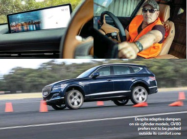 ??  ?? Despite adaptive dampers on six-cylinder models, GV80 prefers not to be pushed outside its comfort zone