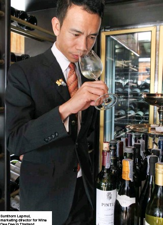 ??  ?? Sunthorn Lapmul, marketing director for Wine Dee Dee in Thailand