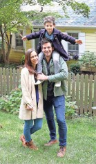 ?? TANIA SAVAYAN/THE JOURNAL NEWS ?? Elizabeth and Ethan Finkelstein with their son, Everett, 6, at home in Nyack on Sept. 16. Cheap Old Houses features charming old houses across America for under $100,000.