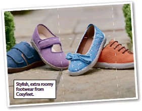??  ?? Stylish, extra roomy footwear from Cosyfeet.