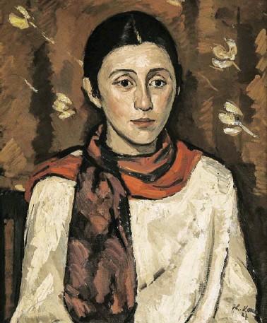?? BILD: SN/SALZBURG MUSEUM ?? Porträt der Künstlerin Poldi Wojtek, gemalt von Theodor Kern im Jahr 1927.