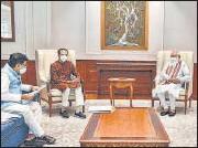 ?? PTI ?? Prime Minister Narendra Modi during a meeting with Maharashtra CM Uddhav Thackeray in New Delhi on Tuesday.