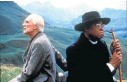 ??  ?? Richard Harris and James Earl Jones in a publicity shot for the 1995 film version of 'Cry, the Beloved Country'. It was first filmed in 1951.