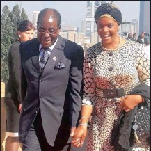 ??  ?? KEEPING IT IN THE FAMILY: Zimbabwe President Robert Mugabe with his wife Grace.
