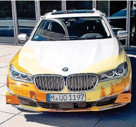 ??  ?? Der Prototyp des völlig selbstfahrenden Autos