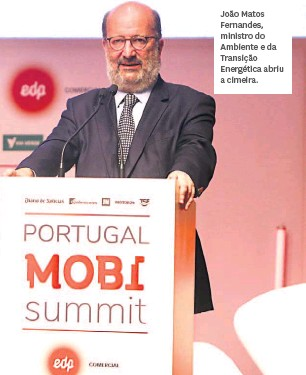 ??  ?? João Matos Fernandes, ministro do Ambiente e da Transição Energética abriu a cimeira.