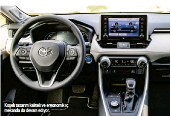 ??  ?? Köşeli tasarım kaliteli ve ergonomik iç mekanda da devam ediyor.