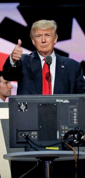 ??  ?? Il presidente Donald Trump è stato eletto a novembre tra accuse di interferenze russe nelle elezioni