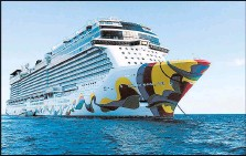 ?? RICHARD TRIBOU/ORLANDO SENTINEL 2019 ?? Companies have canceled U.S. cruises until at least Jan. 1 as they ready to protect passengers and crew from the virus.