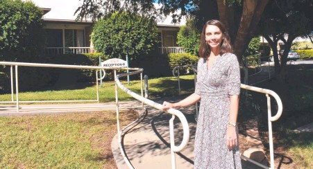 ?? Photo: Supplied ?? FORGING AHEAD: Roma Pinaroo nursing home CEO Melanie Calvert.