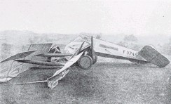 ?? COPIES OF PICTURE AVAILABLE FROM ODT FRONT OFFICE, LOWER STUART ST, OR WWW.OTAGOIMAGES.CO.NZ ?? The aeroplane after the crash on the New Plymouth racecourse, which resulted in the deaths of pilot Captain Richard Russell, who held the Distinguished Flying Cross and French Croix de Guerre medals, Mayor of New Plymouth James Clark and Miss Warnock. — Otago Witness, 30.11.1920.