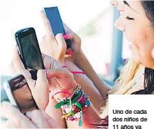 ?? ARCHIVO ?? Uno de cada dos niños de 11 años ya tiene teléfono móvil en España