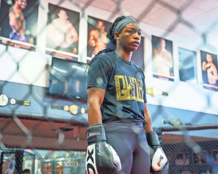 ?? STEVEN ST. JOHN FOR USA TODAY ?? Claressa Shields, one of the best pound-for-pound boxers in the world, has been training at Jackson Wink MMA Academy in Albuquerque for her MMA debut.