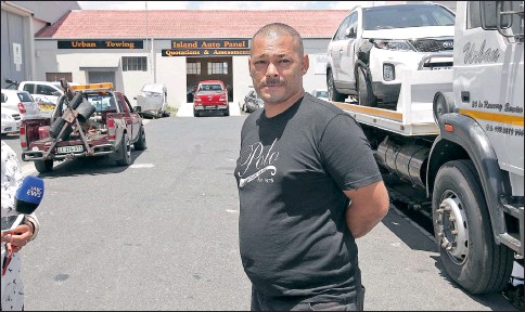 ?? PICTURES: JASON BOUD ?? IN SHOCK: Tow truck company owner Chris Olieslager has promised to look after the family of slain employee Michael Correia.