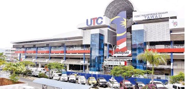 ??  ?? The newly completed Tawau UTC at Tanjong Market.