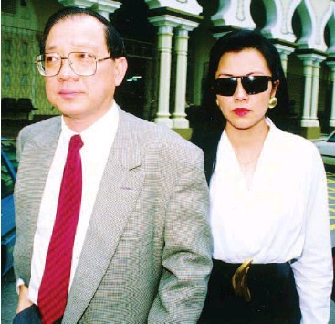 ??  ?? Flashback: Penny Chang with Tan at the courts in 1991. They are still together today.