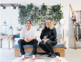 ??  ?? Sandali Home co-owners, Ali Mohamed and Sandy Crooks have re-opened their boutique store at Te Puna.