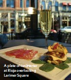 ??  ?? A plate of tuna tartar at Rioja overlooking Larimer Square