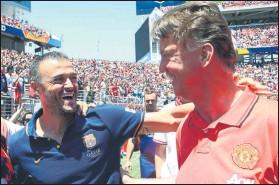 ?? FOTO: P. MORATA ?? Louis van Gaal no entrenaba desde que dejó el Manchester United hace cinco años