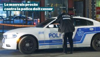 ??  ?? Le mauvais procès contre la police doit cesser