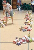 ??  ?? FOOD parcels being prepared at Camps Bay High School for needy pupils.