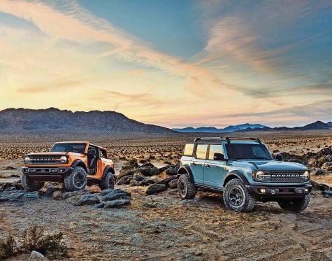 ?? Fotos: PD ?? Ford bringt den Bronco in moderner Interpretation zurück: Die Modelle basieren allerdings auf eher klassischer Technik.