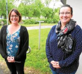 ??  ?? Christelle Frouin, directrice, et Sandra Le Berre, chargée d'accueil, avaient hâte de retrouver leurs adhérents, lundi.