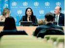 ??  ?? New York City Commissioner of International Affairs Penny Abeywardena at a UN press briefing last week. (UN photo)