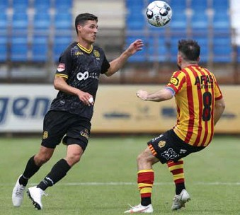 ?? FOTO ISOPIX ?? Stefano Marzo (Roda JC) in actie tegen KV Mechelen.
