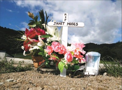 ?? Pictures: ROSS GIBLIN ?? At rest: The grave of Janet Moses at Taita cemetery. The mother of two young children died during an exorcism ritual in a house in Wainuiomata.