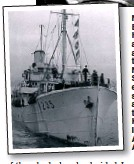??  ?? Navy vet... Ernest Hoffmeister, above, was assigned to the Royal Naval Patrol Service. He ended up serving with a converted trawler, HMT King Sol, left, in the Atlantic and Arctic