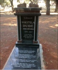 ??  ?? MYSTERY PUT TO REST: The grave of Nokutela Dube in Brixton Cemetery. Her grave was unmarked and forgotten for over 90 years until Chérif Keita determined it should be found.