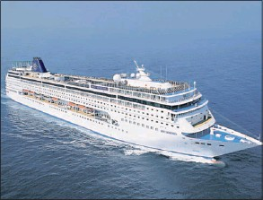 ??  ?? The MSC Sinfonia is set to carry thousands of passengers around southern
