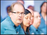 ??  ?? In this file photo, Gary Jones, United Auto Workers President, speaks during the opening of their contract talks with Fiat Chrysler Automobiles in Auburn Hills, Michigan. (AP)