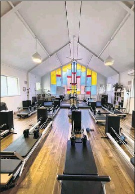 ??  ?? PILATES AND MORE: Ms Nation's pilates studio in an old church in Euroa.