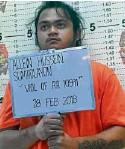 ?? —DEXTER CABALZA ?? Allein Hussein Sumadlayon alias Marco Santiago