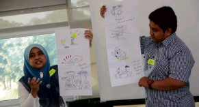 ??  ?? UKM organises activities such as Innovation Bootcamp to nurture innovation and creativity in its students.
